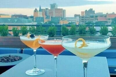 Head to the rooftop for cocktails